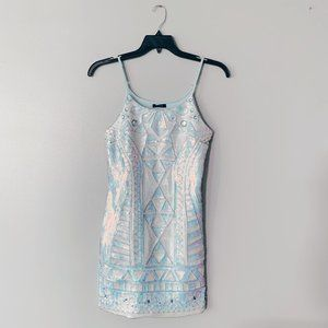 NWT Verty Turquoise Mint Sequin Mini Dress